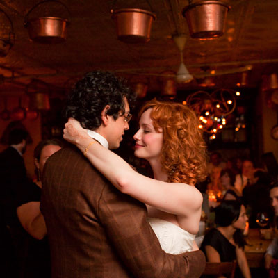 Christina Hendricks wed actor Geoffrey Arend.  Celebrity Weddings- October 2009